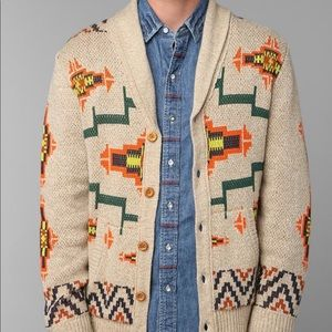 Urban Outfitters Koto Shawl Patterned Cardigan